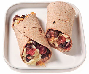 Black Bean Breakfast Burrito