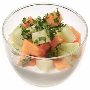Honey-Whipped Cottage Cheese With Melon