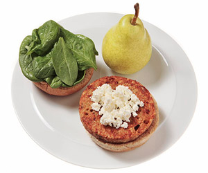 Burger With Feta and Spinach