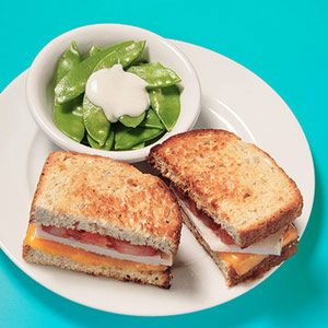 Grilled Cheese With Turkey & Tomato