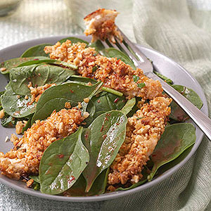 Coconut-Curry Chicken Fingers With Cashews