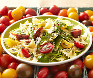 Pasta Salad With Tomatoes and Blue Cheese
