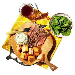 Pepper-Crusted Grilled Flank Steak