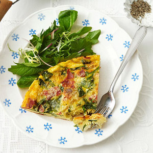 Spinach, Bacon and Gruyere Frittata