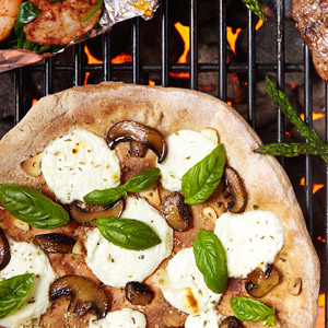 Grilled Mushroom and Ricotta Pizza