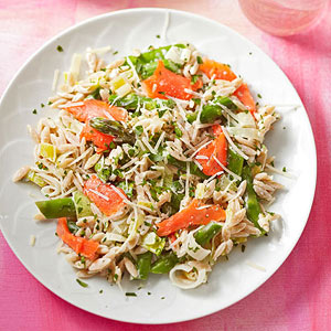 Parmesan Orzo With Smoked Salmon