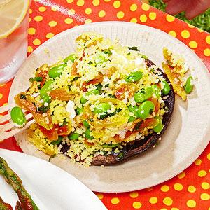 Couscous-Stuffed Portobello Caps