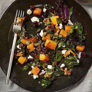 Kale and Butternut Squash Saute
