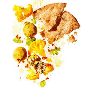 Curried Cauliflower and Chicken Meatballs