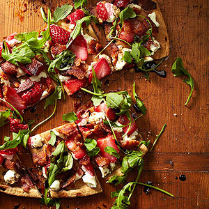 Strawberry-Bacon Pizza