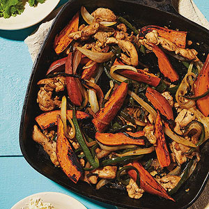 Sweet Potato and Chicken Fajitas
