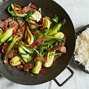 Beef-and-Bok-Choy Stir-Fry
