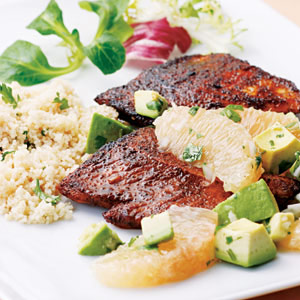 Spiced Turkey with Avocado-Grapefruit Relish