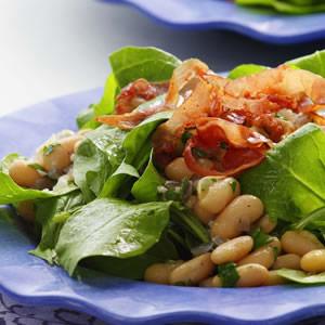 Warm Bean & Arugula Salad
