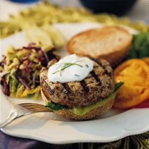 Turkey-Mushroom Burgers