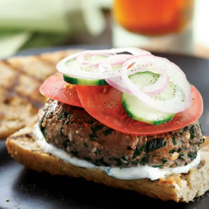 Greek Bison Burgers