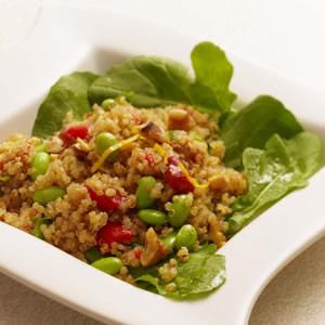 Warm Quinoa Salad with Edamame & Tarragon