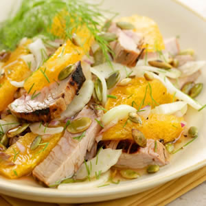 Grilled Pork Tenderloin Salad