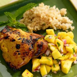 Curried Chicken with Mango Salad