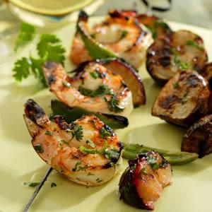 Shrimp & Plum Kebabs