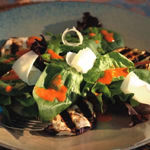 Grilled Smoky Eggplant Salad