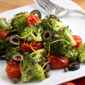 Mediterranean Roasted Broccoli & Tomatoes