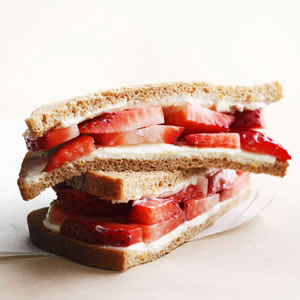Strawberry & Cream Cheese Sandwich