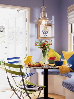 colorful dining area