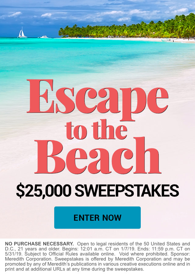 Escape to the Beach $25,000 Sweepstakes