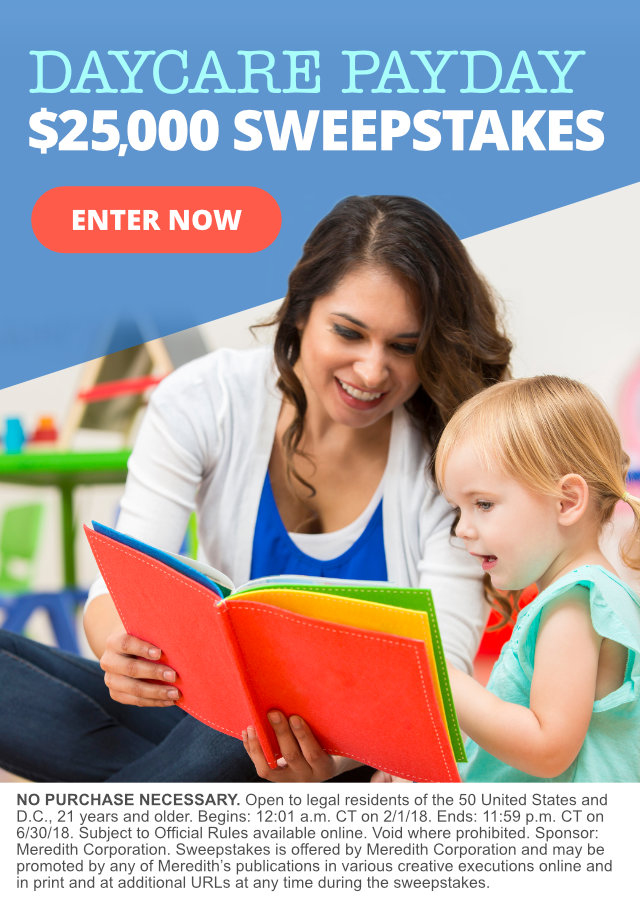 daycare payday  25 000 sweepstakes