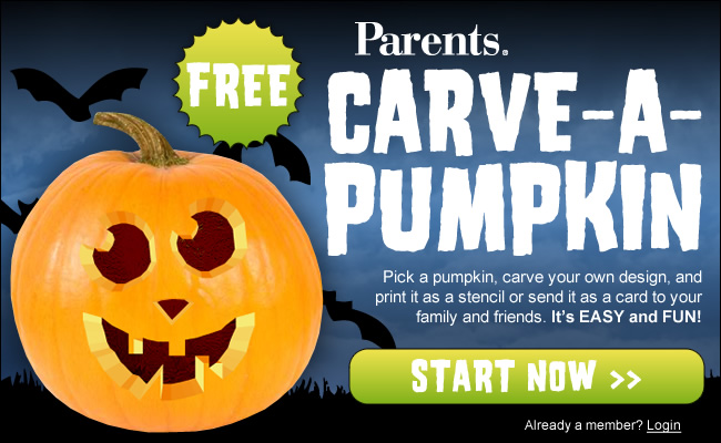 Parents Carve-A-Pumpkin