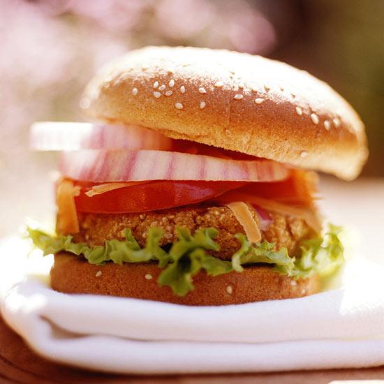 Barbecued Tofu-Potato Burgers