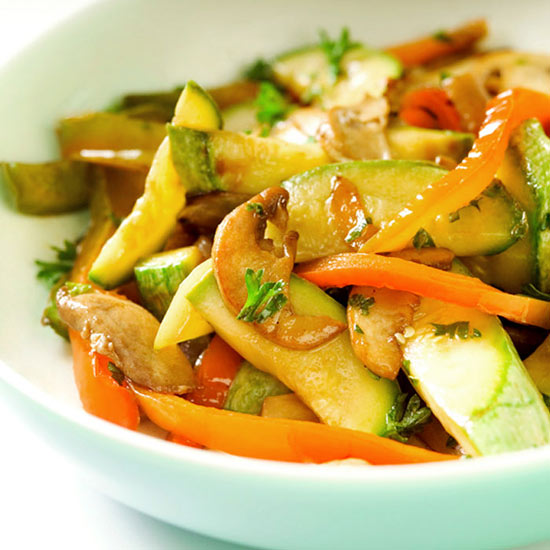Shiitake Mushroom and Veggie Stir-Fry