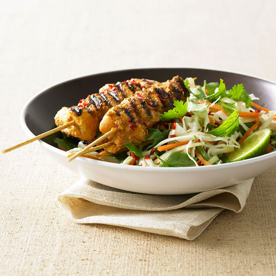 Grilled Chicken Kebabs with Pineapple Salsa