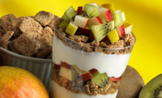 Cereal and Fruit Parfait