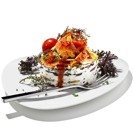 Harissa-Roasted Veggie and Ricotta Lasagna