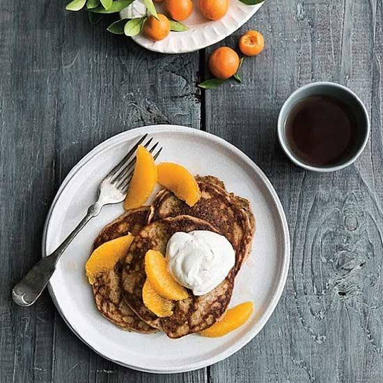 Grain-Free Pancakes With Orange Vanilla Whipped Cream