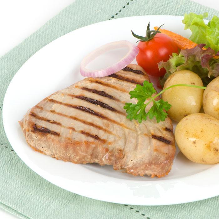 Grilled Sesame Tuna with New-Potato Salad