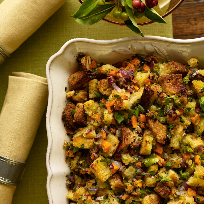Sourdough Stuffing with Sweet Turkey Sausage