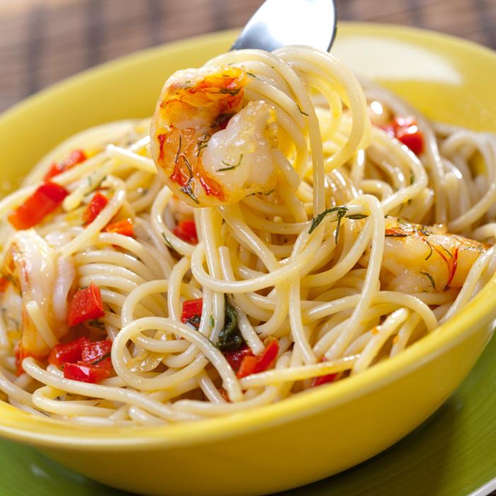 Amber Valletta's Shrimp with Spaghetti