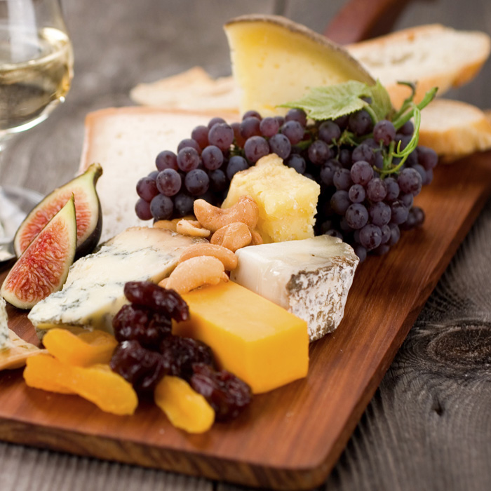 Summer Fruit, Cheese, and Prosciutto Antipasto Plate