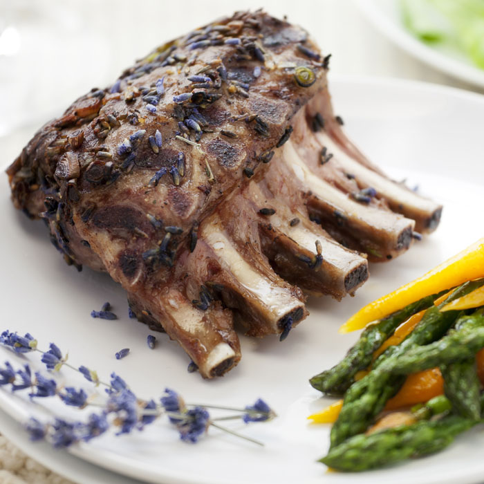 Lamb Chops and Steamed Asparagus