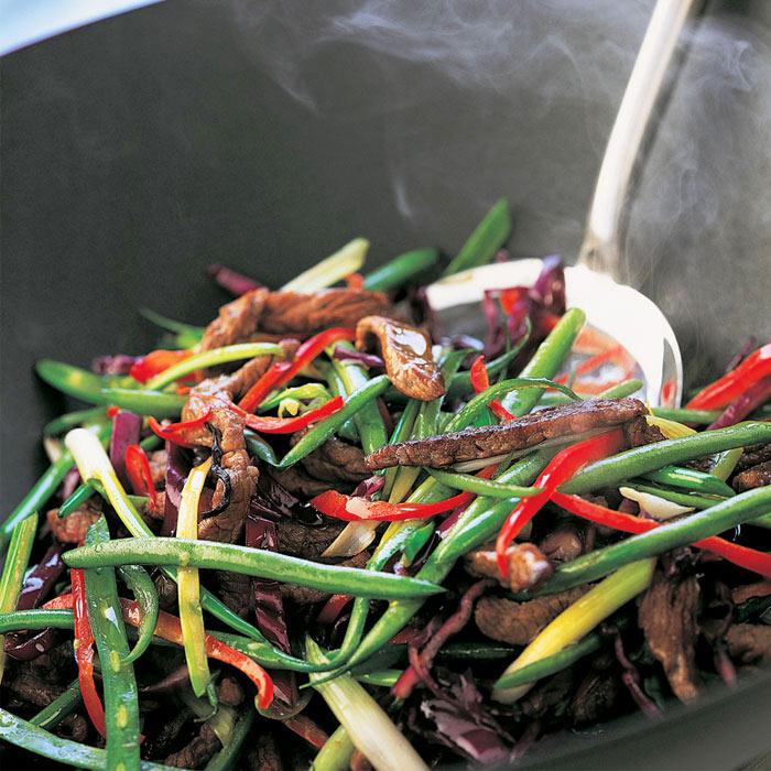 Roasted Garlic and Beef Vegetable Stir Fry