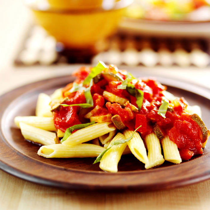 Roasted Balsamic Vegetables with Penne