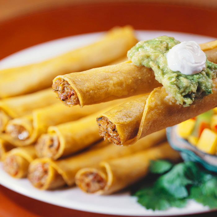 Taquitos with Chicken and Black Beans