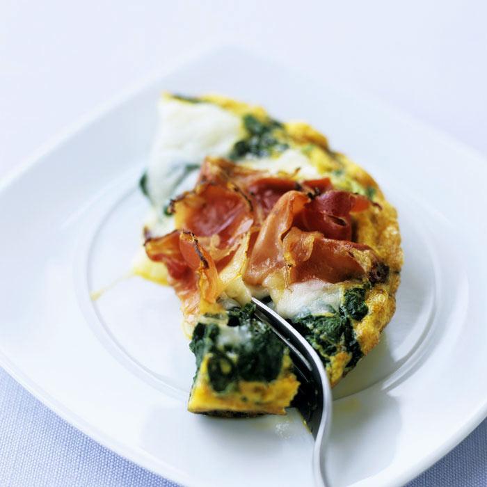 Mini Spinach & Ham Frittatas