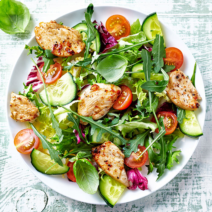 Chicken Salad with Roasted-Tomato Vinaigrette