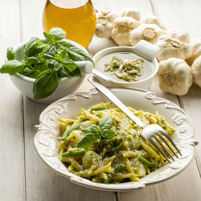 Pasta with Basil Tapenade