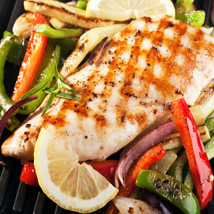 Broiled Lemon-Dill Chicken with Peppers