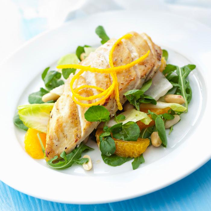 Grilled Chicken with Grapefruit Clementine Marinade